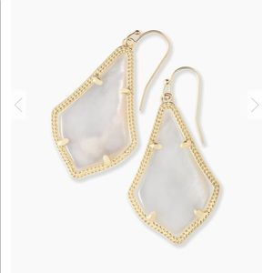 Kendra Scott Alex Earrings, White Mother of Pearl
